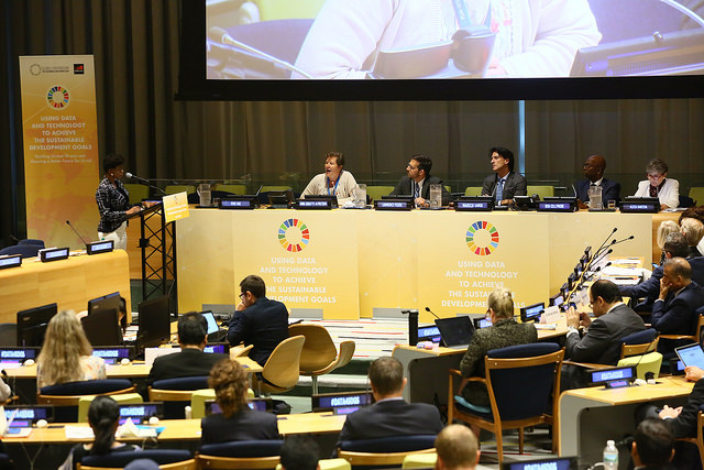 Anne-Birgitte Albrectsen, CEO of Plan International, speaking at the Trusteeship Council.
