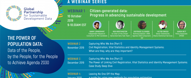 the power of population data webinar series