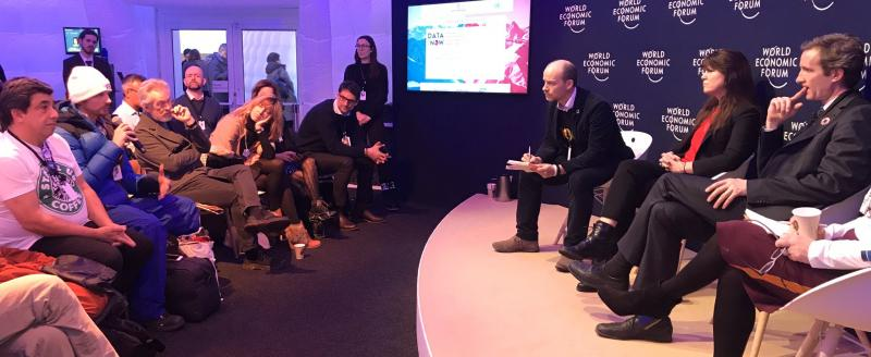 Data for Now panel in Davos, Photo by Sophie Rigg