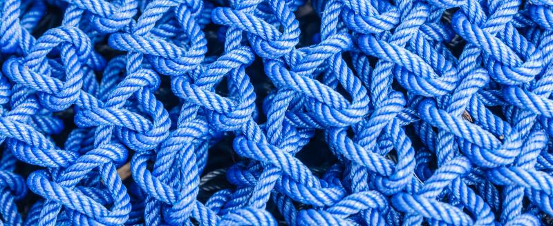 blue connected ropes